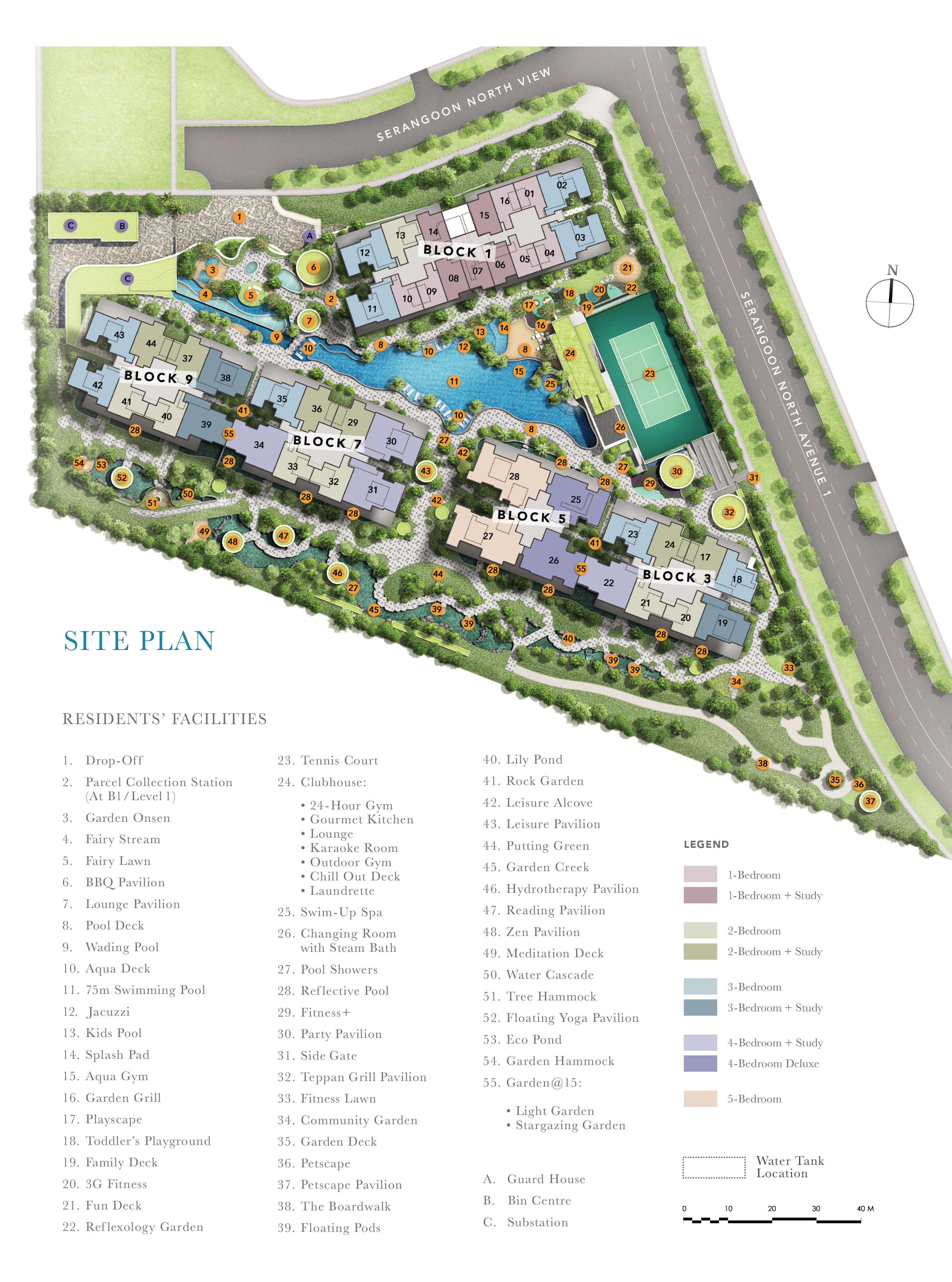 Beautiful A Whole Range Of Amenities Is Available At The Garden Residences. Please  See The Below Site Plan. Various Facilities Including A Swimming Pool,  Indoor Gym, ...